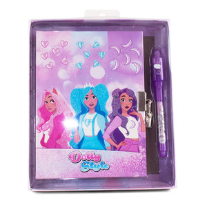 Dolly Style Diary Set w/ Magic Pen In Gift Box