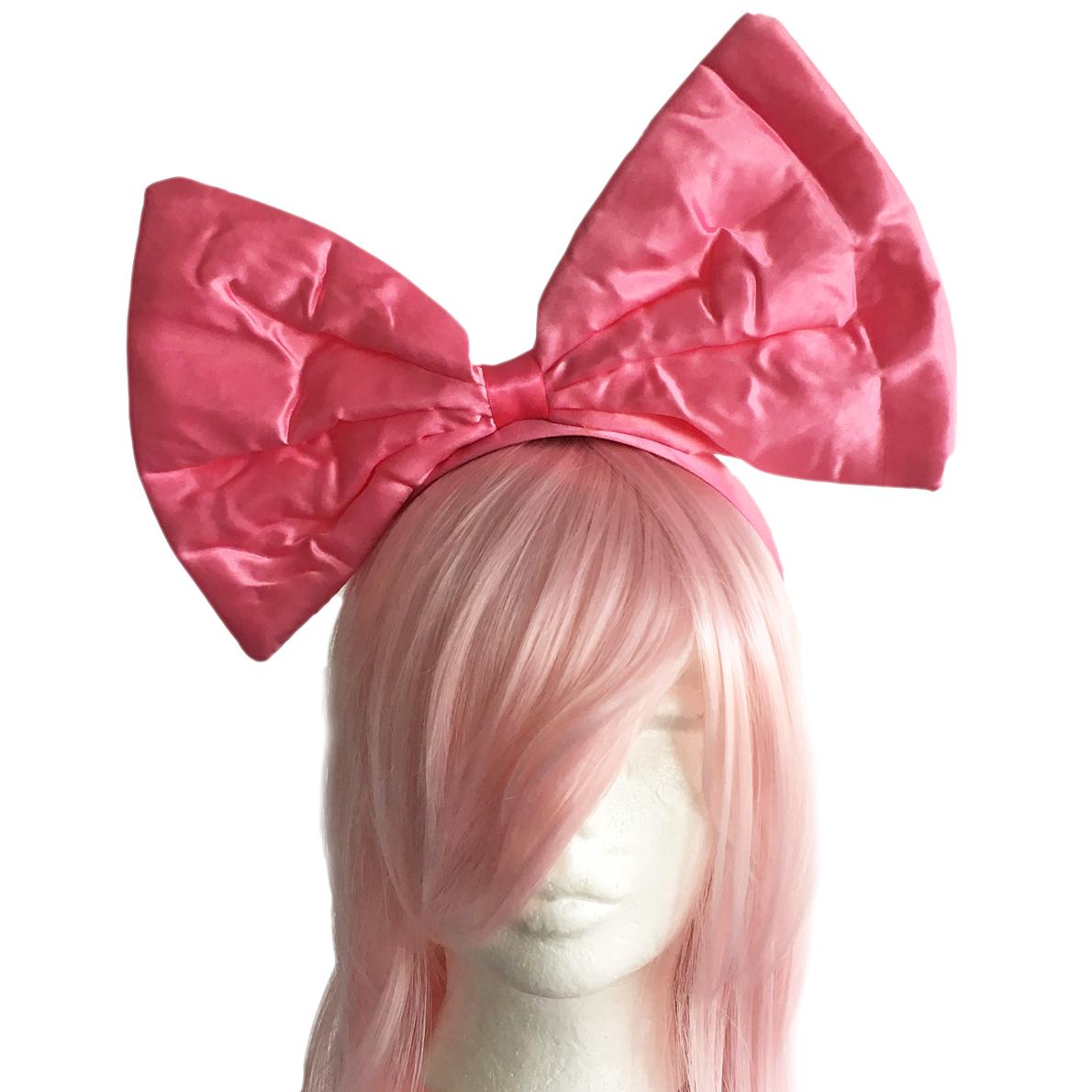 rosa rosett till håret